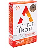 Active Iron | Iron Tablets | Ferrous Iron Sulphate Supplement | Recommended by Doctors | 1-Month Supply