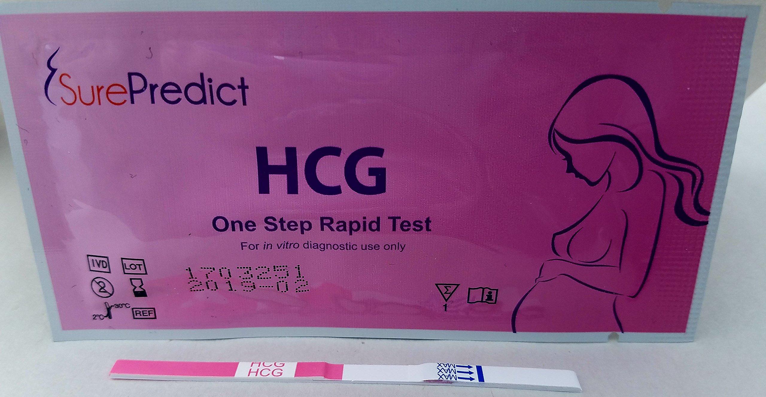 Twenty SurePredict(TM) 10mIU Super Early HcG Pregnancy Tests