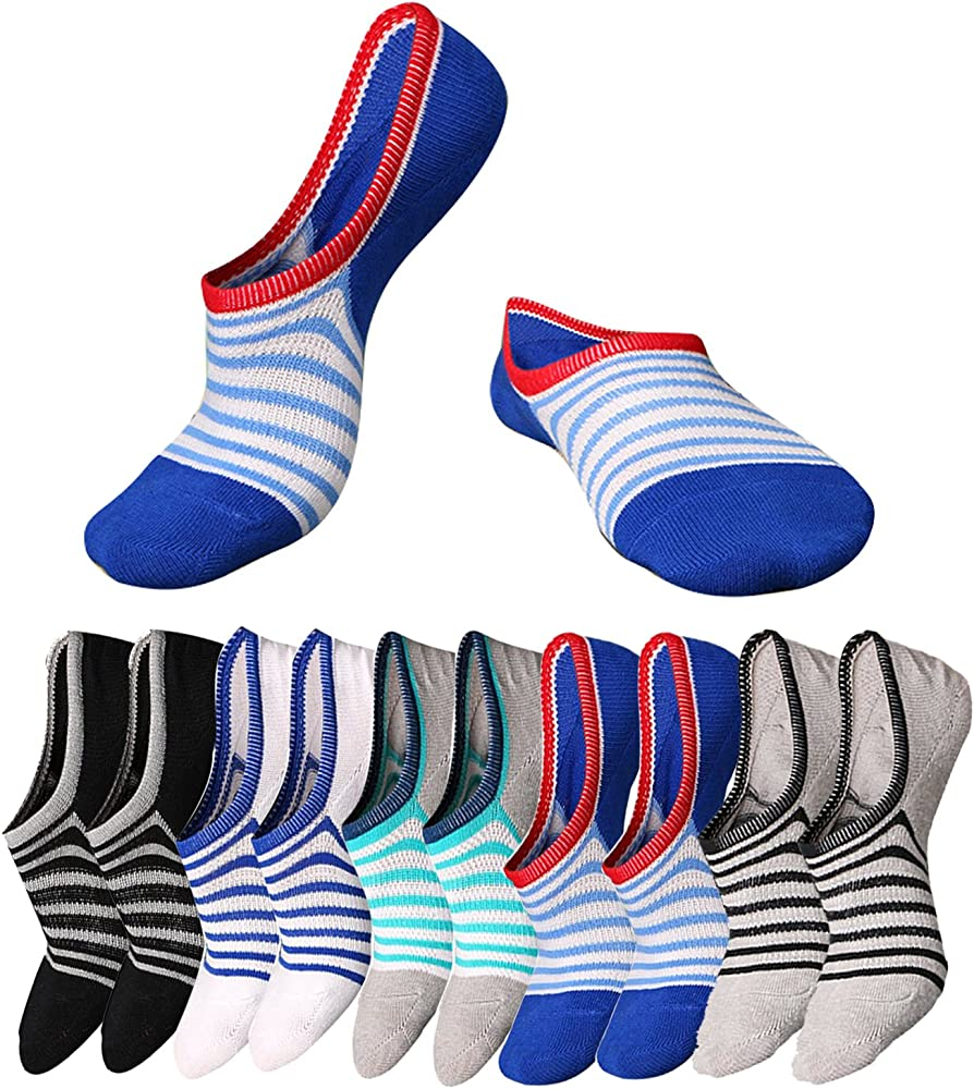 Me. ™ de ventilador 5 Hombre No Show – Calcetines Algodón Desodorante calcetines tamaño: 6 – 12: Amazon.es: Ropa y accesorios