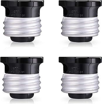Black Two Outlet Socket Adapter