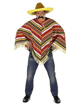 Generique Poncho mexicano adulto Única  Amazon.es  Juguetes y juegos 0d8f9ea2b02