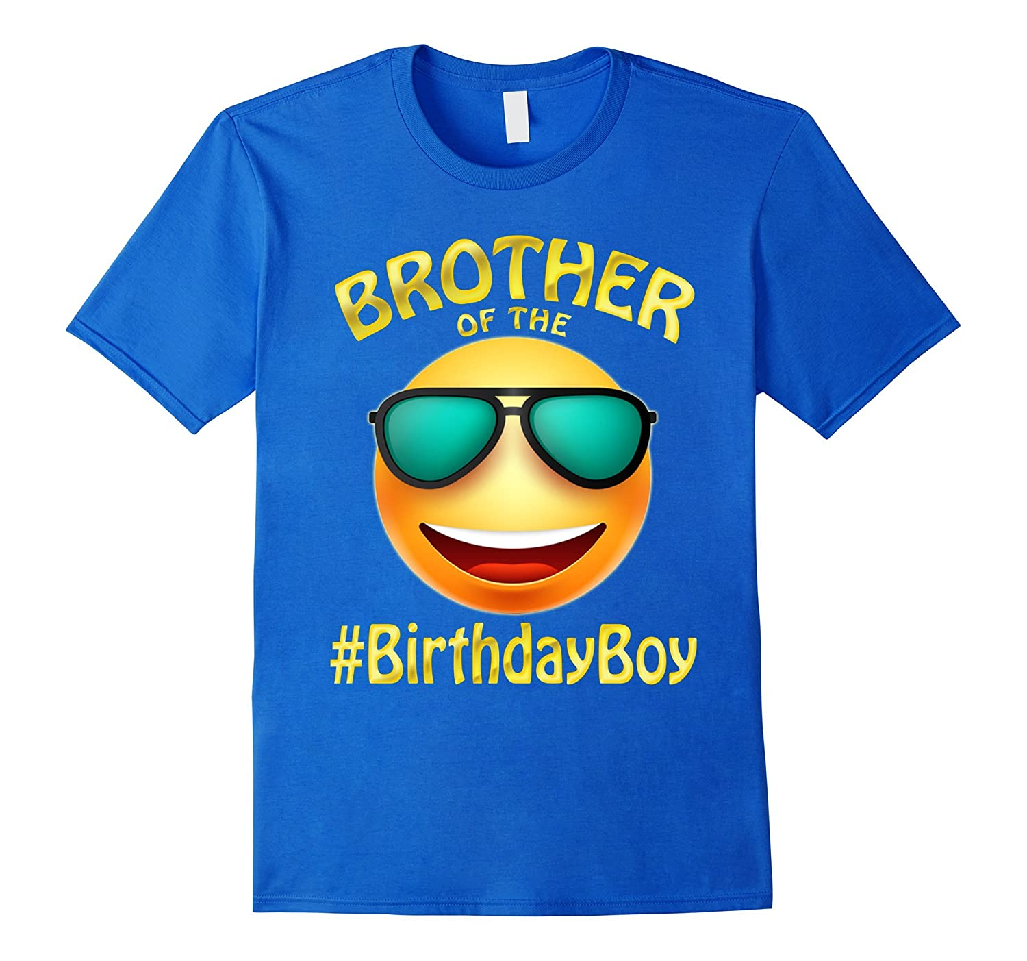 Brother Of The Birthday Boy Emoji T Shirt Gift For Party Hntee
