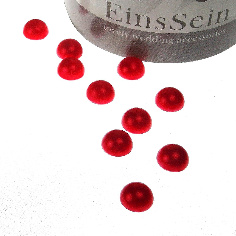 50g Dekoperlen 10mm rot glanz Tischdeko Hochzeit Konfetti Deko Wedding