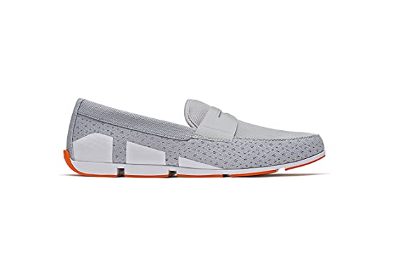372b29efd9f Amazon.com  SWIMS Men s Breeze Penny Loafer Boat Shoes - Grey White ...