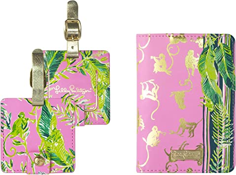 Amazon Com Lilly Pulitzer Travel Set Passport Cover And Luggage Tags Chimpoiserie Passport Covers