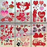 Valentine's Day Window Clings Decorations, Valentines Window Decal Stickers for Valentine's Day Decorations With Removable Vi