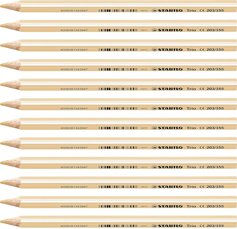 Confezione da 12 STABILO Trio Maxi matita colorata colore Blu Cielo
