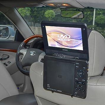 TFY soporte para reposacabezas de coche soporte para Estándar (tipo portátil) reproductor de DVD portátil: Amazon.es: Electrónica