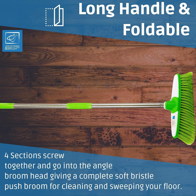Soft Scopa per interni spazzare scopa spazzola con telescopica//pieghevole inox.