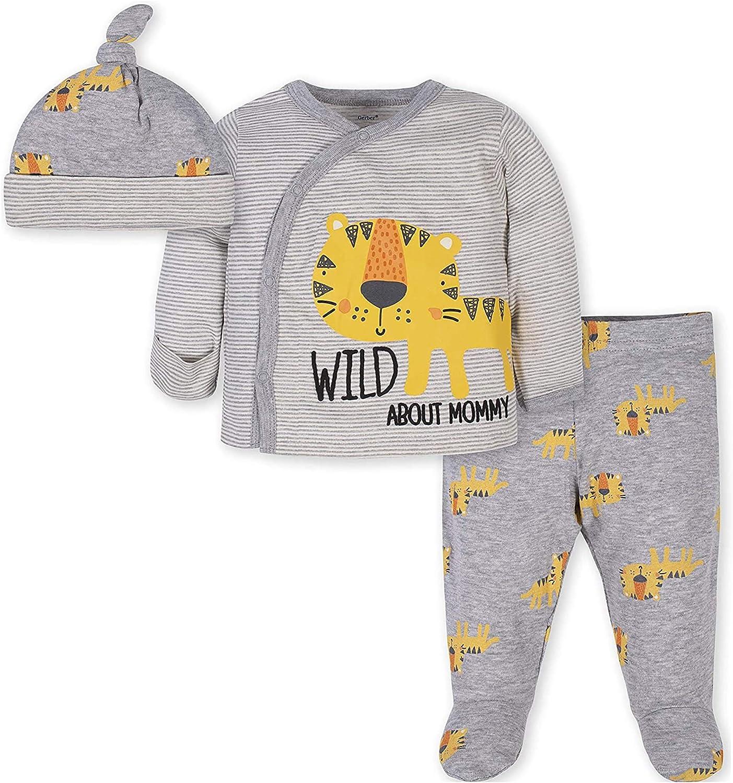 Pant and Cap Set GERBER Baby Boys 3-Piece Bodysuit
