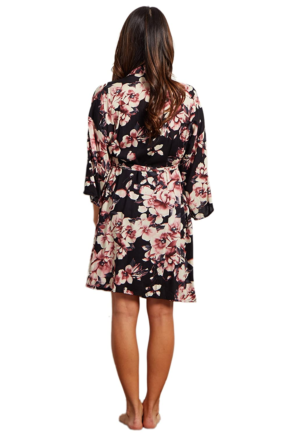 c6a88867d79 PinkBlush Maternity Mauve Floral Delivery Nursing Maternity Robe ...