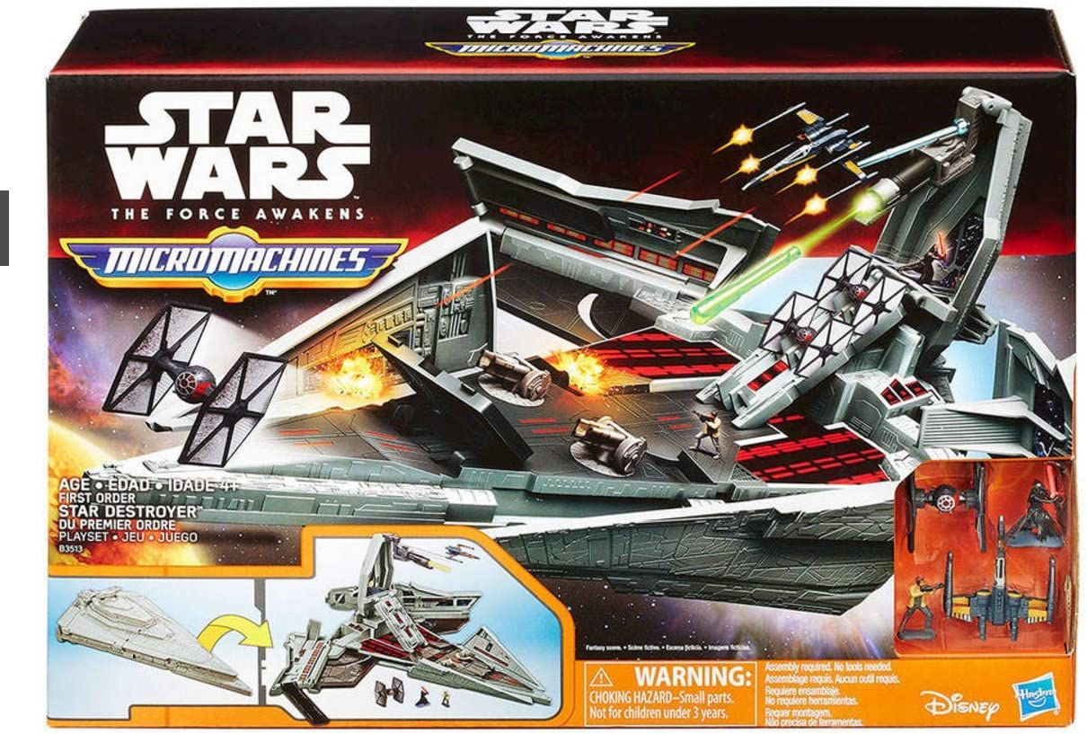 Star Wars The Force Awakens Micro Machines Disney First Order Star Destroyer