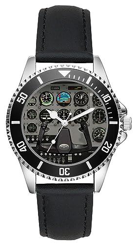 Regalo para Cessna Aviador Fan Conductor Kiesenberg Reloj L-10019: Amazon.es: Relojes