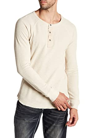 c24c1495 Lucky Brand Men's Lived in Thermal Henley Shirt, Oatmeal, XX-Large at Amazon  Men's Clothing store: