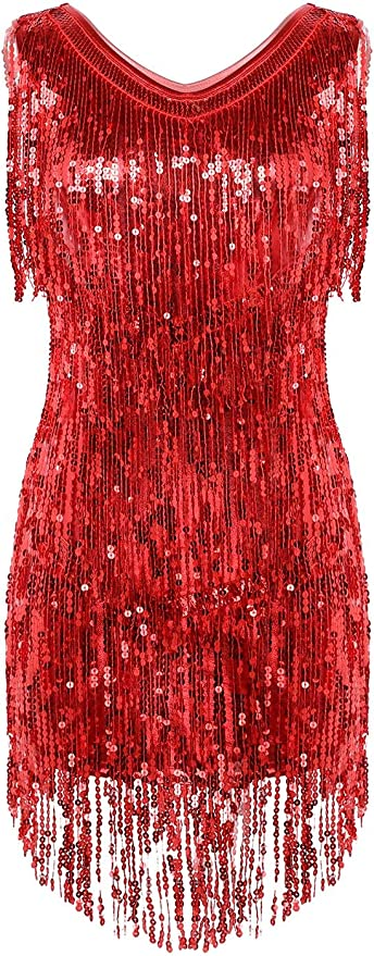 iiniim Women Flapper Dress