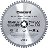 Concord Blades MCB0725T060HP 7-1/4-Inch 60 Teeth TCT Ferrous Metal Cutting Blade