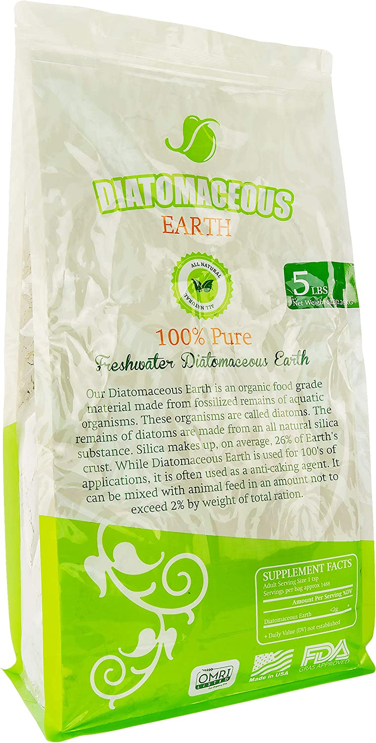 Absorbent Industries AI-10067 Diatomaceous Earth Food Grade, 5 lb, WHI, Single, White