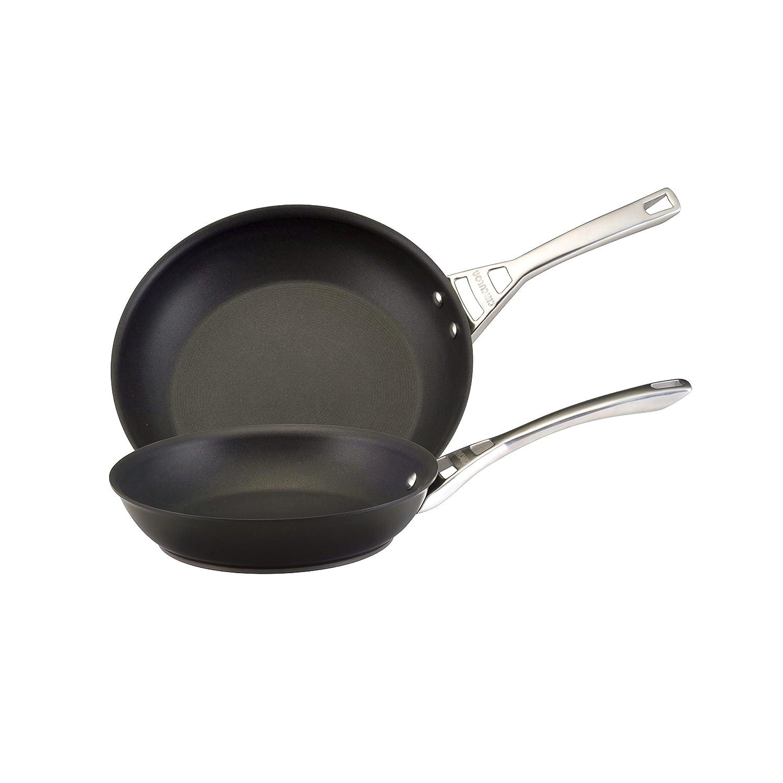 """Circulon Infinite Skillet Omelet Pan Twin Pack, 10""""/12"""", Black"""