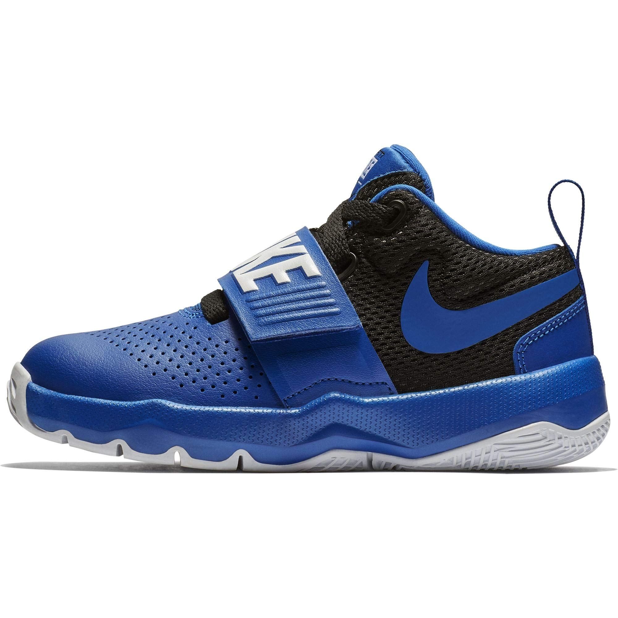0ee0f2d3eef82 Galleon - NIKE Boy s Team Hustle D 8 (PS) Pre School Basketball Shoe Game  Royal Black White Size 12 Kids US