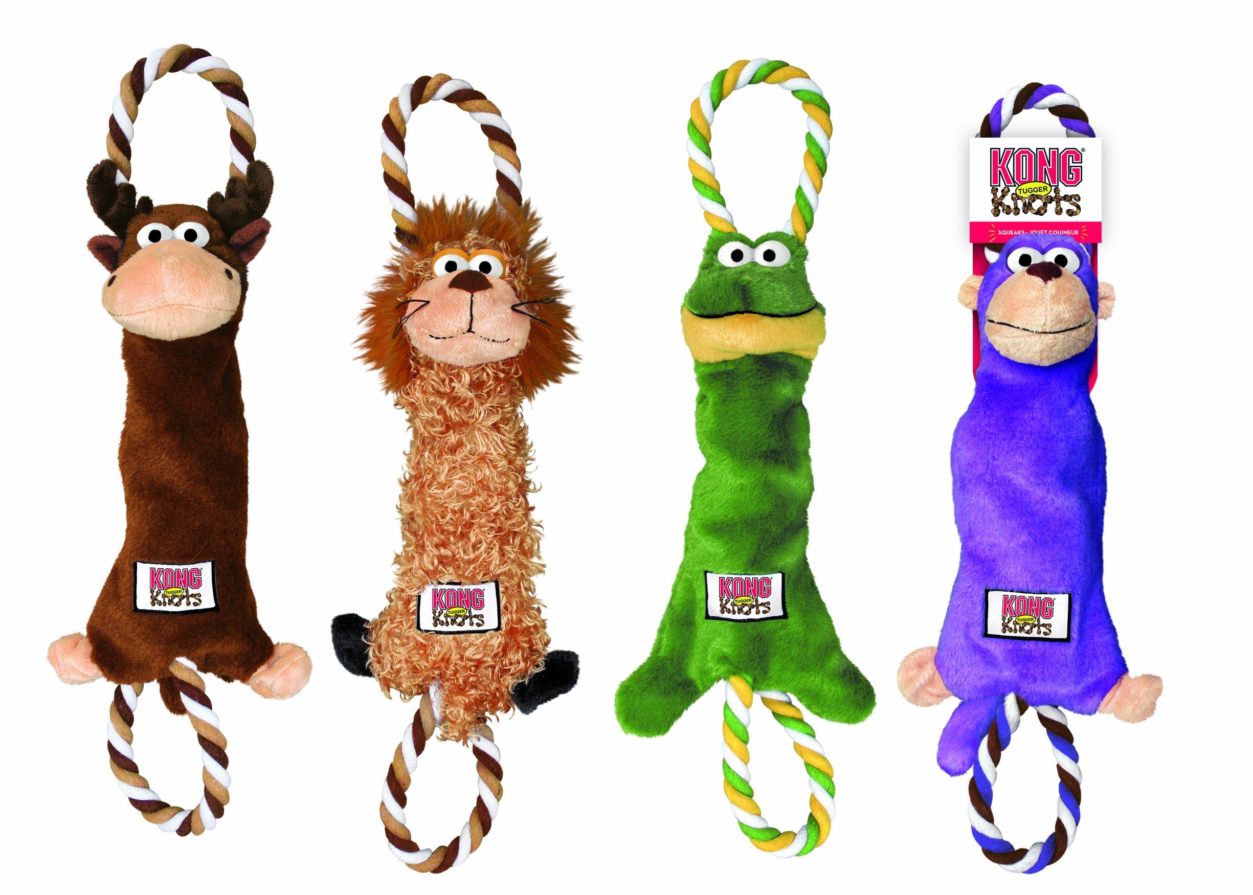 KONG Tugger Knots Moose Dog Toy, Small/Medium