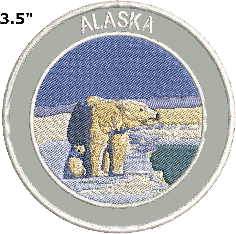 Parche bordado para planchar o coser, de la marca Explore Alaska ...