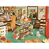 Bits and Pieces - 300 Large Piece Jigsaw Puzzle for Adults - Village Shop - 300 pc Small Town General Store Jigsaw by Artist Tracy Hall