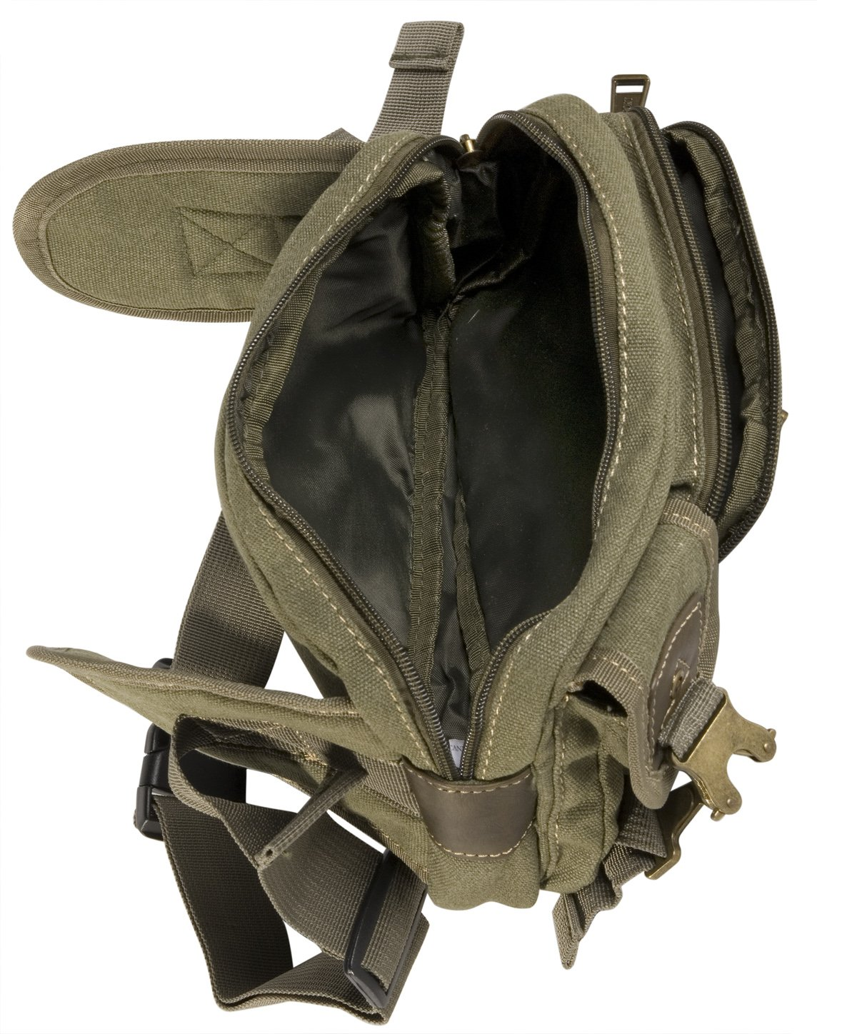 Eurosport Mens Canvas Fanny Pack Waist Bag Olive