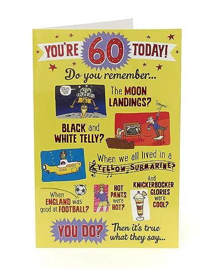 Divertida tarjeta de 60 cumpleaños - 60 hoy ¿Tu recuerdo ...