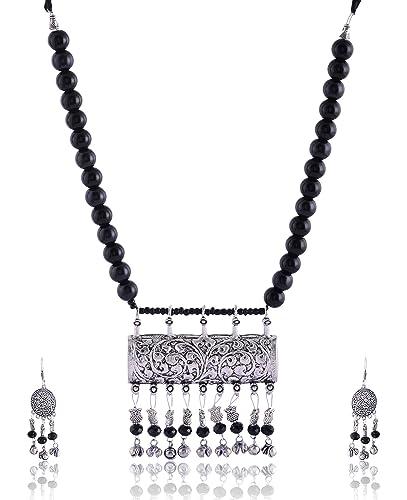 8a93f42841947 Buy Rai Collection Women Fashion Designer Oxidized Silver Strand ...