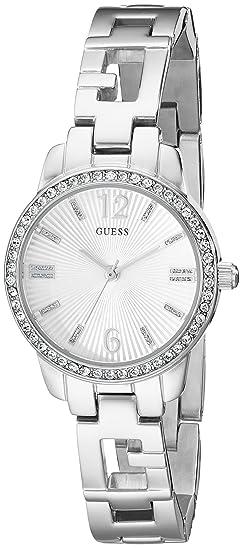440a065f18ff Guess Mujer u0568l1 iconci tono plateado Logo reloj con genuino cristales    ajustable enlaces