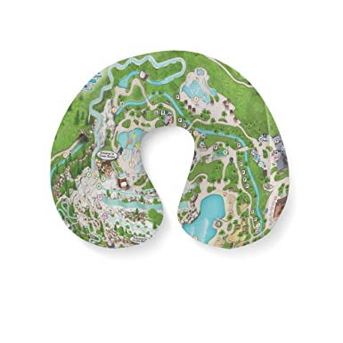 Amazon Com Blizzard Beach Map Travel Neck Pillow Inflatable Clothing