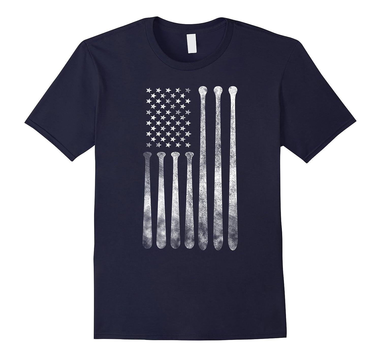 American Flag Vintage Baseball Flag T-Shirt, Dad, Mom, Kid T-BN