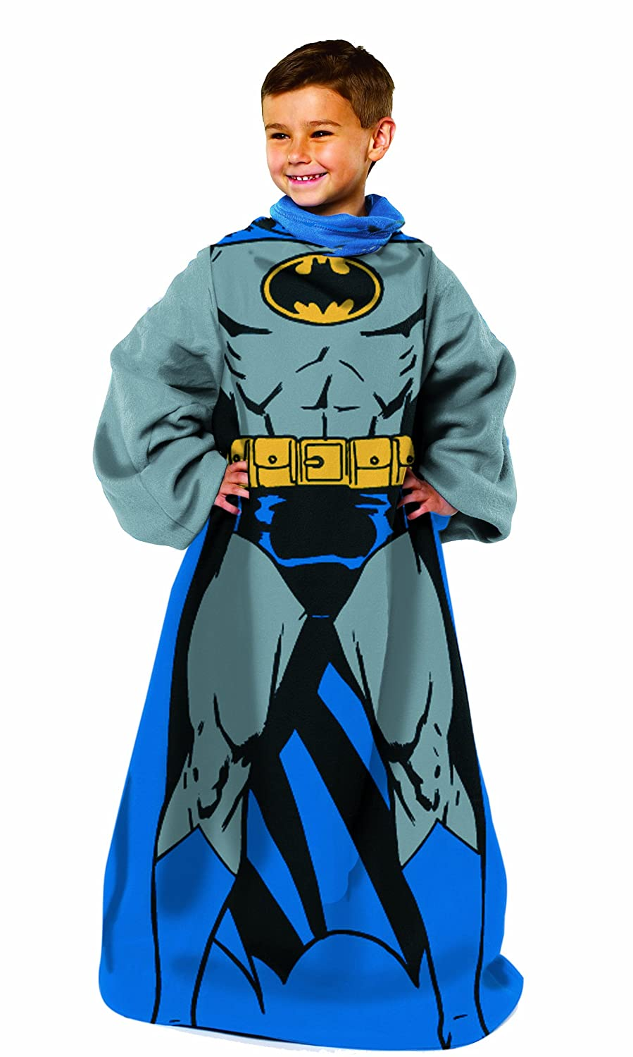 Batman,Being Batman Youth Comfy Throw Blanket with Sleeves, 48 x 48 48 x 48 Warner Brothers DC Comic BAT023000002RET