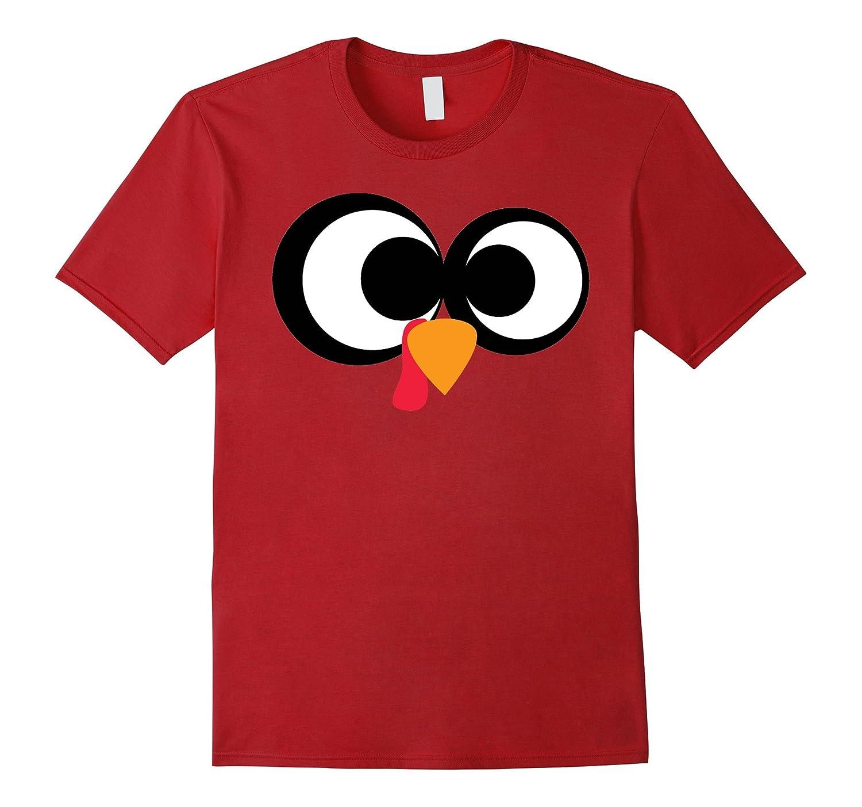 Thanksgiving Cartoon Turkey Face T Shirt Rt Rateeshirt