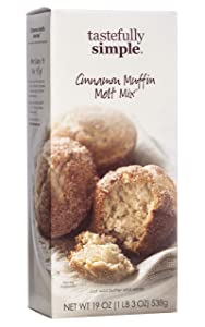 Tastefully Simple Cinnamon Muffin Melt Mix - Great Base for Coffee Cakes, Waffles and Snickerdoodles - 19 oz