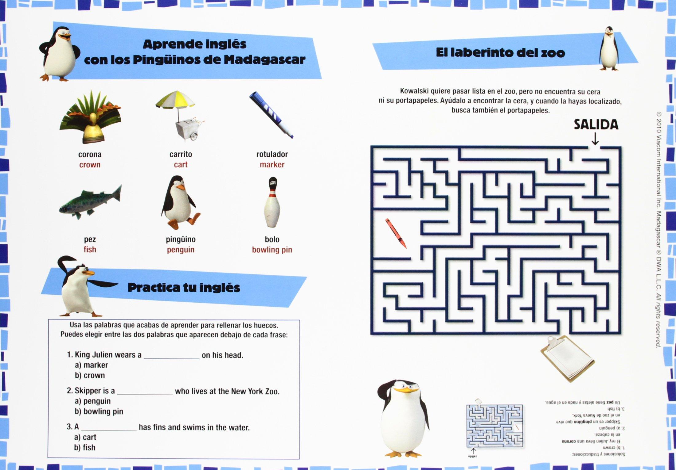 Los Pingüinos de Madagascar. Maletín de actividades.: VV.AA.: 9788444166216: Amazon.com: Books