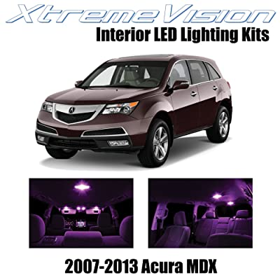 XtremeVision Interior LED for Acura MDX 2007-2013 (13 Pieces) Pink Interior LED Kit + Installation Tool: Automotive