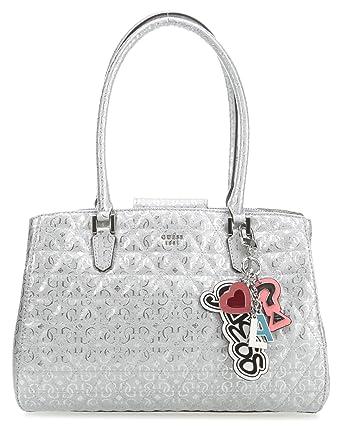 Guess Tabbi Handtasche silber metallic: : Bekleidung