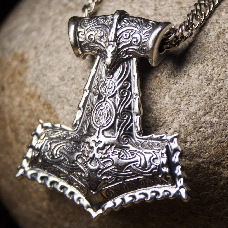 Mjolnir Thor/' hammer sterling silver Viking jewelry Silver Thor pendant Silver Thor/'s hammer Power men/'s celtic amulet Men/'s celtic talisman