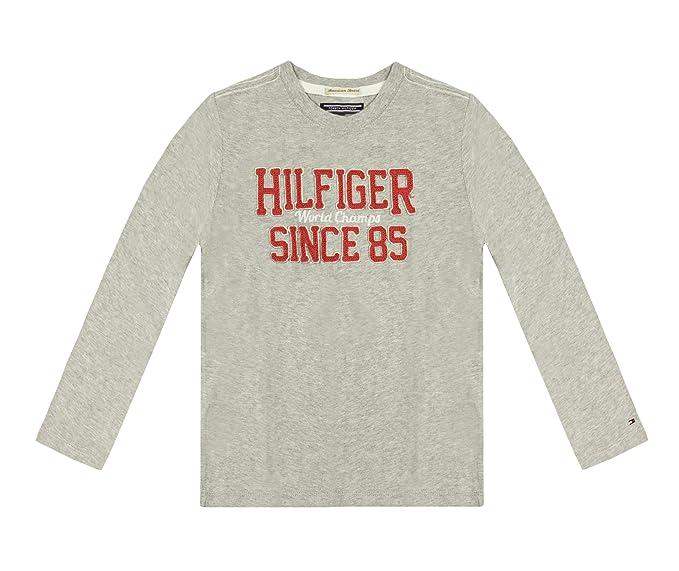 Tommy Hilfiger camiseta de fútbol para hombre palo de golf para niños fotografía de manga larga para T-camiseta de manga corta: Amazon.es: Ropa y accesorios