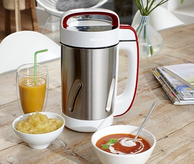 Philips HR2200/80 - Robot cocina para sopas y cremas, Más que sopas, 1050W, jarra inox 1.25L, 4 programas predefinidos: Amazon.es: Hogar