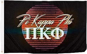 Pi Kappa Phi 80's Letter Fraternity Flag Banner 3 feet x 5 feet Sign Decor Pi Kapp (Flag - 80's)