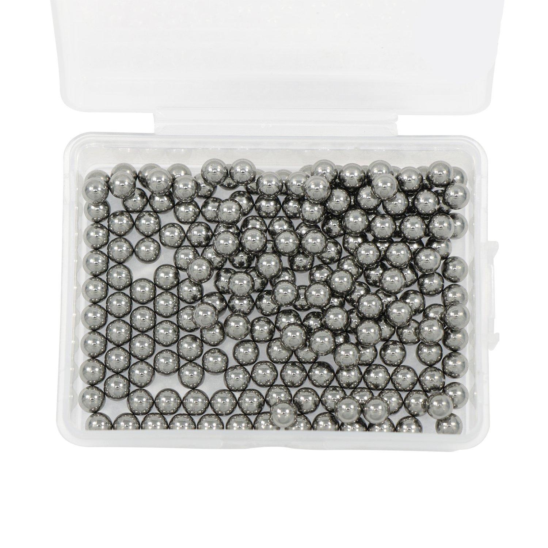Waykino 200pcs 4.5 mm Roulements à Billes en Acier Avec Boîtier en Plastique Pour Airsoft et Slingshot Parfaitement Ronde