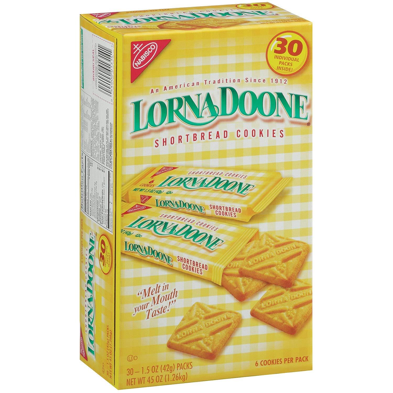 Lorna Doone 30ct Cookies 1.5oz Each Pack by NABISCO