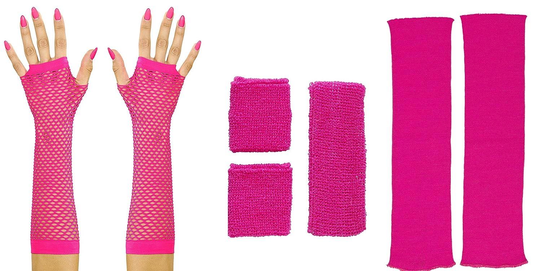 info for 3f09b f60a6 colore: rosa fluo Scaldamuscoli da gamba da donna stile anni ...