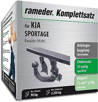 rameder Juego completo, remolque extraíble + 13POL Elektrik para Kia Sportage (116589 – 05394
