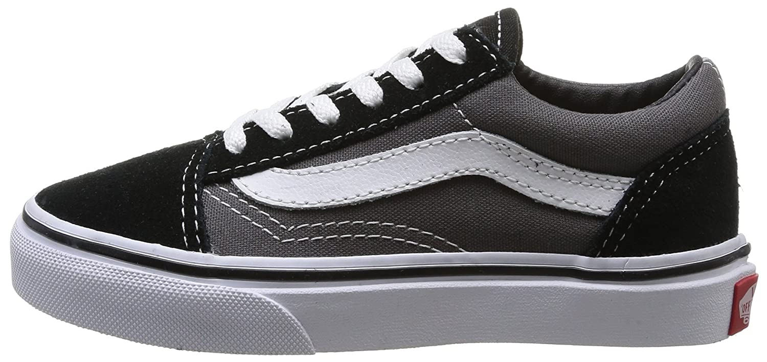 VANS Unisex Kids (C&L) Old Skool Skate in Shoes, Comfortable and Durable in Skate Sturdy Canvas and Leather Uppers B00PMMQWEO 1.5 M US Little Kid|Black Pewter dcddfd