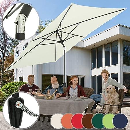 200cm Sonnenschirm Gartenschirm Marktschirm Knickbarer Strand Schirm 4 Farbwahl