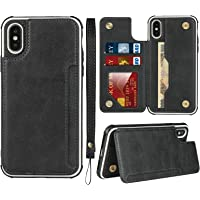 Frolan iPhone X/XS Wallet Case, Premium PU Leather Kickstand Card Holder Drop Protection Shockproof Cover for iPhone X…