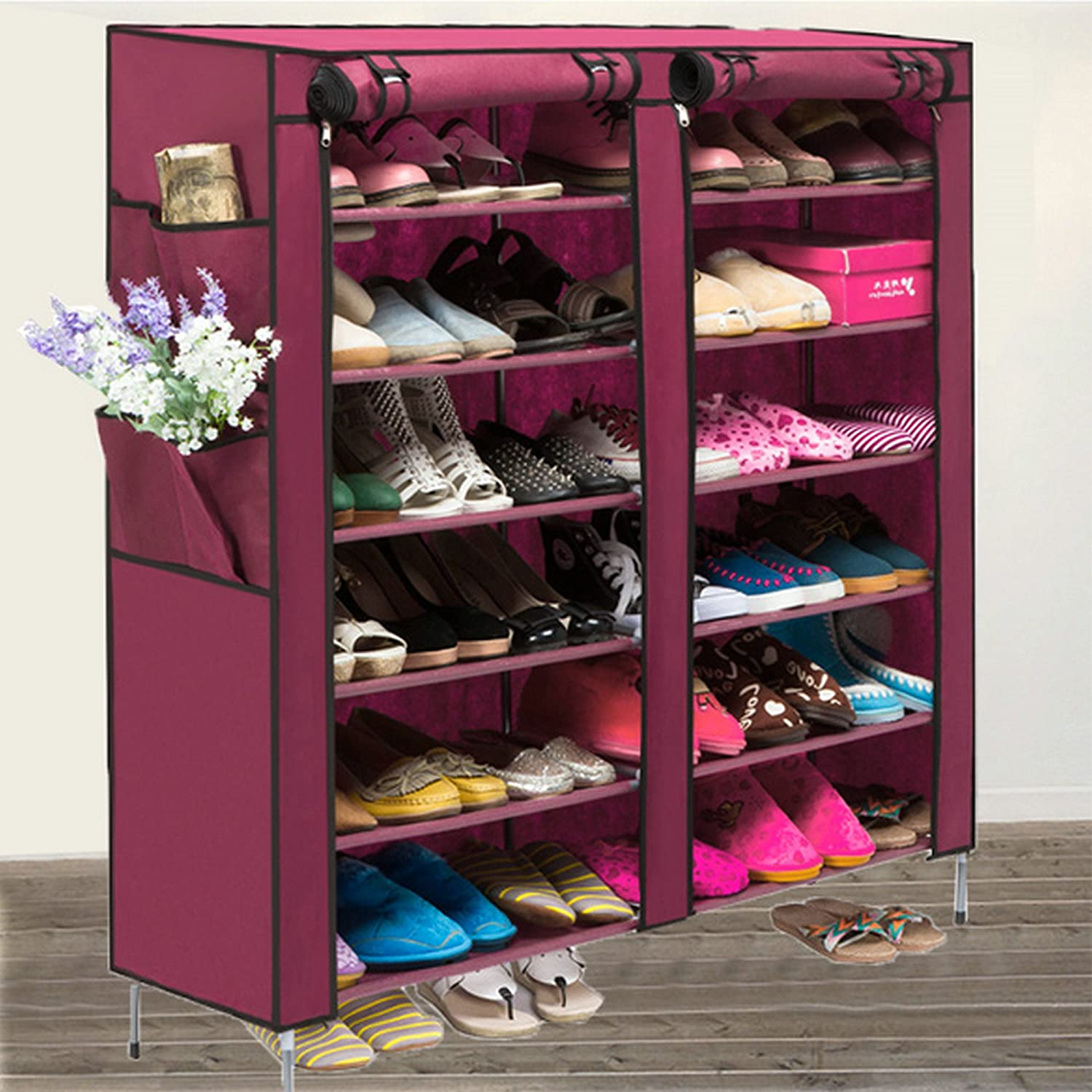 kitchen closet tiers dining cover amazon storage organizer dp homdox cabinet with com rack shoe